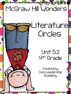 Thinkmark Literature Circle graphic organizer ~ Unit 5.2~There are 4 different levels approaching, on, ell, and advance!  Great for literacy centers! Enjoy!