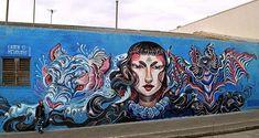 New mural by @lolo.ys in Melbourne Australia. by powwowworldwide