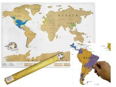 Scratch off push pin world map bundle gift future and stuffing large scratch off world map poster personalized travel gumiabroncs Image collections
