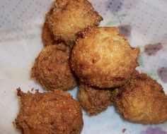 Hush Puppies (Made Easy) from Food.com:   								My favorite addition to fish and fried taters. They are simple to make and not time consuming.