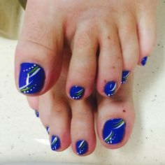 Nail Designs with Gel Polish Awesome 22 Fall toe Nail Art Designs Ideas Easy Nail Polish Designs, Best Nail Art Designs, Colorful Nail Designs, Toe Nail Designs, Simple Nail Designs, Fall Toe Nails, Blue Toe Nails, Blue Nail Polish, Gel Nails