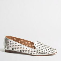 J.Crew Factory - Factory metallic perforated cara loafers