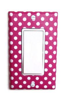 Pink  White Polka Dot