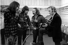 Crosby, Stills, Nash, and Young...They look young here!
