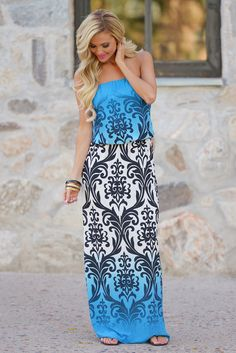 *10% OFF with code REPLAUREN at checkout + free, fast US shipping**    Take Two Ombre Maxi Dress - Blue from Closet Candy Boutique