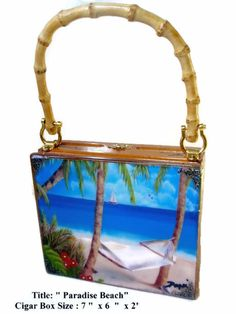 Gift Ideas ,Cigar Box Purse W/ Artwork on Top. Dozen Cuban Art to choose. #Fashion