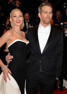 Blake Lively & Ryan Reynolds Coordinate Outfits at 'The Captive' Cannes Premiere!: Photo Blake Lively and husband Ryan Reynolds are a gorgeous coordinating pair while attending the premiere of his upcoming film The Captive during the 2014 Cannes Film… Blake Lively E Ryan Reynolds, Blake And Ryan, Cannes 2014, Cannes Film Festival 2014, Celebrity Couples, Celebrity Dresses, Celebrity Style, Gisele Bundchen, Tom Brady