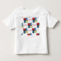 I Have Autism Puzzle Tagless T-shirt 4-5T - kids kid child gift idea diy personalize design