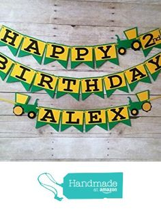 Tracker Birthday Banner - party supplies - party banners - decorations - personalized - john deere from Party Ridge