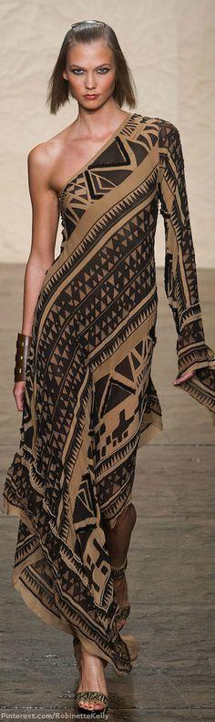 Donna Karan Spring 2014 - New York Fashion Week. Look Fashion, High Fashion, Fashion Show, Womens Fashion, Fashion Design, Fashion Trends, Fashion Ideas, Tribal Fashion, Fashion Tips For Women