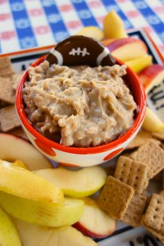 Toffee Apple Dip {Football Friday} | Plain Chicken #IronBowl