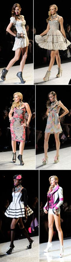 7832b7c1f76 Betsy Johnson S S 2012 Top two dresses Middle right Bottom left WANT Betsey  Johnson