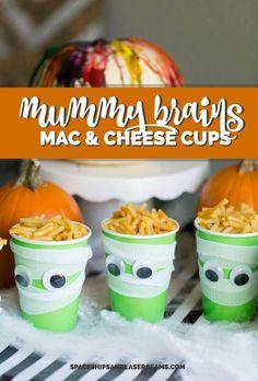 Mummy Brains Mac & Cheese Cups - Spaceships and Laser Beams Homemade Tacos, Homemade Taco Seasoning, Cake Ingredients, Mac And Cheese Cups, Mac Cheese, Halloween Snacks, Halloween Party, Halloween 2020