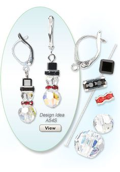 A great assortment of Christmas charms and beads for all your holiday jewelry making needs. Shop holiday colors and motifs, including Swarovski crystal and Almost Instant Jewelry components. Wire Jewelry, Jewelry Crafts, Beaded Jewelry, Jewelery, Jewelry Ideas, Gold Jewelry, Ideas Joyería, Illustration Noel, Do It Yourself Jewelry