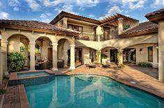 Home Plans HOMEPW76162 - 3,777 Square Feet, 4 Bedroom 5 Bathroom Mediterranean Home with 3 Garage Bays