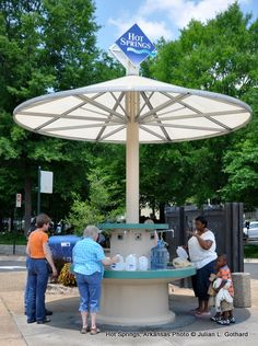 Jug Fountain at Hot Springs National Park. BYO-Jug for free water from the hot spring. the best tasting water in the world.