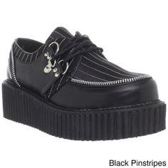 306e35482320 Demonia Women s  Creeper-113  Black Printed Creeper Shoes