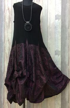 "D'CELLI CRUISE/ WEDDING EVENING LAGENLOOK DRESS-BLACK & MULBERRY-XXL BUST-50-58"" #DCELLI #BohoHippie #Festive"