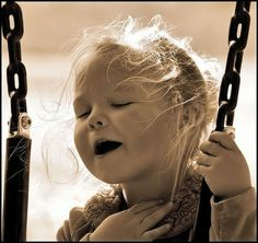 You're talking too much......: A simple smile. Singing and swinging.......