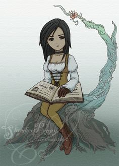 The only worlds I've ever visited are in books. (Dagger - Final Fantasy IX) #ff9