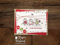 Stampin Up Merry Mice Christmas  Card