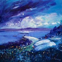 Moon Art, New Words, Beautiful Things, Pallet, Landscapes, Waves, Paintings, Oil, Drawings