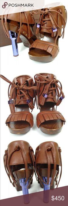 27201bf6a78a Louis Vuitton Sandals Authentic Louis Vuitton Category Sandals Brand LOUIS  VUITTON Size Size Japan US Heel   Shoe   Color Brown Metallic purple  Material ...
