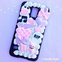 Samsung 5 Pastel Goth with Kawaii Kitty Decoden Phone Case