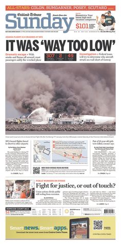 """IT WAS 'WAY TOO LOW'"" and a smoke-filled scene from the Oakland Tribune"