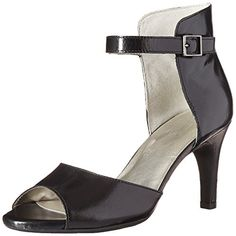 Aerosoles Womens Flamboyant Dress Sandal Black Leather 85 M US ** See this great product.(This is an Amazon affiliate link and I receive a commission for the sales)