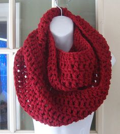 Gorgeous burgundy cowl infinity scarf by MatsonDesignStudio, $24.00