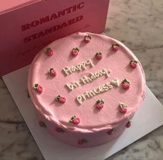 Pretty Birthday Cakes, My Birthday Cake, Pretty Cakes, Princess Birthday, Colorful Birthday Cake, Birtday Cake, Pink Princess, Simple Cake Designs, Simple Cakes