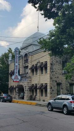 Palace Hotel, Eureka Springs. Used to be a brothel. Notice the shape of the sign, lol.