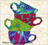 These paper piecing patterns are designed by Maartje Quilts in Amsterdam and published in posts of this blog. You can download these patte...