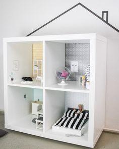 Kallax Ideen für das Kinderzimmer: Puppenhaus Klebefolien www.limmaland.com