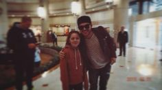 Adam with a fan before leaving Chile