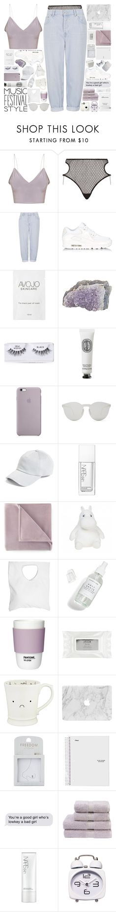 """""""the city of angels // musical festival style - coachella looks // #243 ~ 240417"""" by elliebonjelly ❤ liked on Polyvore featuring Agent Provocateur, Topshop, NIKE, Ardell, Diptyque, Illesteva, rag & bone, NARS Cosmetics, Martex and Jennifer Haley"""