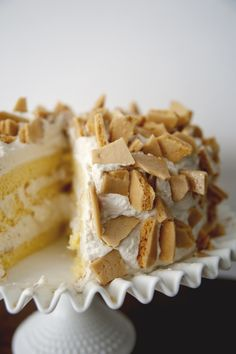 Tina's Crackle Cake ~ (Vintage Inspired) A delicious Lemon Scented Sponge Cake with a Sweet Coffee Crunch Whipped Cream Frosting Sweet Recipes, Cake Recipes, Dessert Recipes, Dessert Food, Dog Recipes, Just Desserts, Delicious Desserts, Yummy Food, Healthy Food