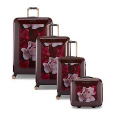Roll through the departure lounge in style with this Porcelain Rose suitcase from Ted Baker. Filled with numerous internal compartments to maximise packing capabilities, this case is on four smooth ro Source by adiga_lukasheh Sets Buy Luggage, Luggage Sets, Travel Luggage, Travel Bags, Ted Baker Gifts, Hard Sided Luggage, Fabric Manipulation Techniques, Cute Suitcases, Baby Wrap Carrier