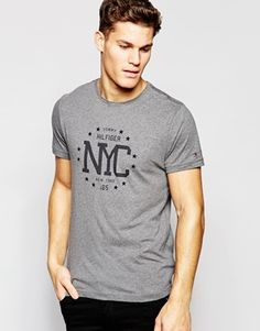 Tommy Hilfiger T-Shirt With Nyc Print In Gray