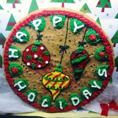 Holiday cookie cake #nestlecafe