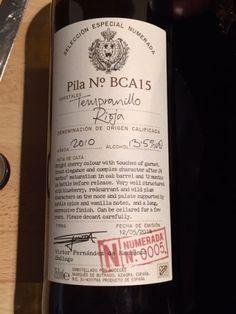 Rioja Reserva wine spain tempramillo pila