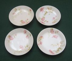 Lot of 4. Antique Butter Pats. Haviland Limoges France. Pink & Yellow Flowers. in Pottery & Glass, Pottery & China, China & Dinnerware | eBay