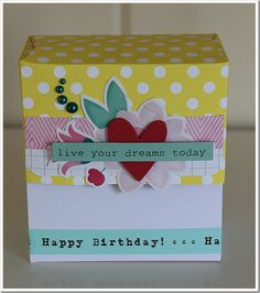 Box filled with cards. Live For Yourself, 4x4, Dreaming Of You, Happy Birthday, Cards, Happy Brithday, Urari La Multi Ani, Happy Birthday Funny, Maps