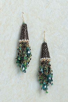 Emerald Sprite Chandelier Earrings   Awesome Selection of Chic Fashion Jewelry   Emma Stine Limited