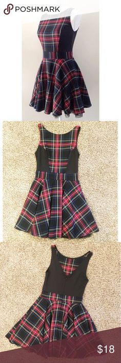 """Perfect Holiday Dress! This adorable plaid dress is perfect for all your holiday party attire needs! Worn twice, perfect condition! Skater style, zips up in back, tulle lined skirt, material has slight stretch to it. Size is a Junior's 1, fits like an XS-S. From Mary Kate and Ashley Olsen's line Olsenboye. *all photos are mine, except for this 1st!"""" Olsenboye Dresses"""