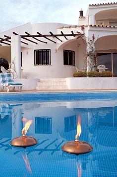 Fredeco Floating Oil Lamp (Stainless or Copper) - contemporary - outdoor lighting - Fredeco Lighting