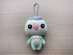 Felt Keychain -  stocking stuffer -  cute accessories -  Kawaii - Penguin plush - READY TO SHIP. $18.00, via Etsy.
