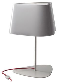 Grand Nuage Table lamp Lacquered white - Silver interior by Designheure