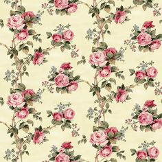 Dolls House Miniature Wallpaper 1/12th or 1/24th scale Quality Paper Cream Roses Dollhouse #59 by miniaturecorner on Etsy https://www.etsy.com/listing/192408803/dolls-house-miniature-wallpaper-112th-or